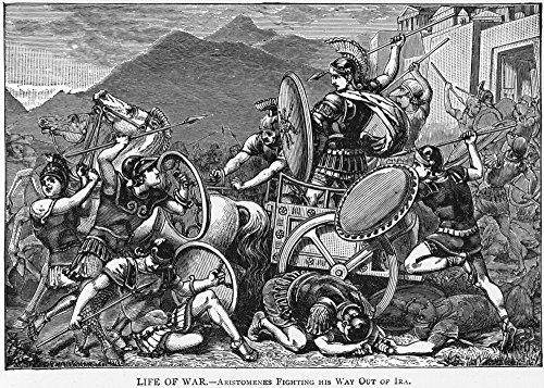 Posterazzi GLP469052LARGE Poster Print Collection Ancient Greece: Combat./Athenians In Combat With Spartans: Wood Engraving 19Th Century. Poster Print By, (24 X 36), -