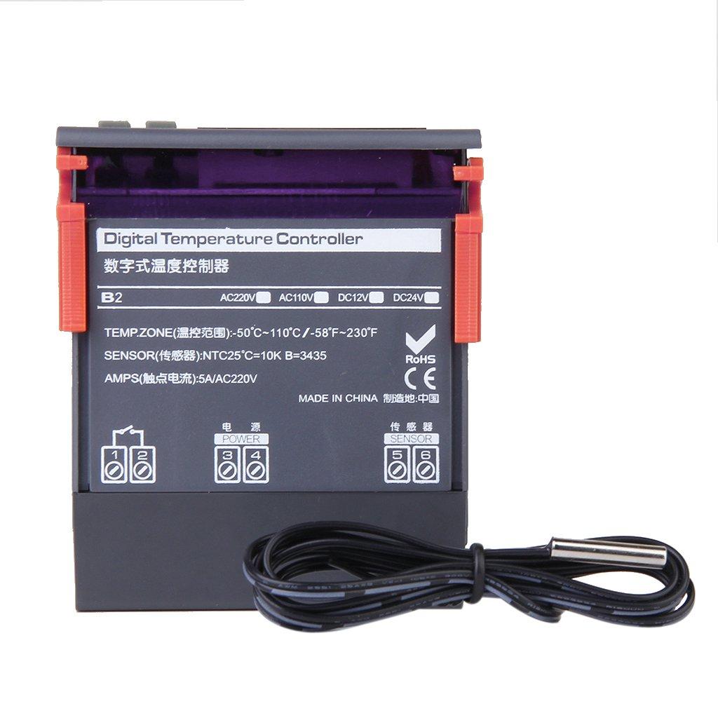 Digital Temperature Controller Thermostat Range -58~230 ℉ AC 110V Generic