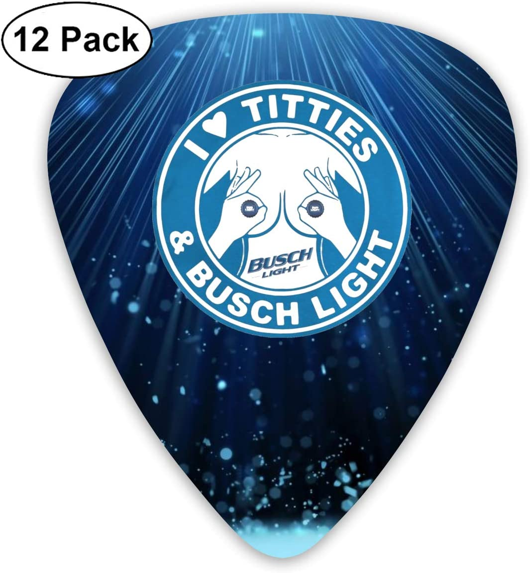 ChristieAHodge I Love Titties and Busch Light Guitar Picks Guitar Supplies Color One Size