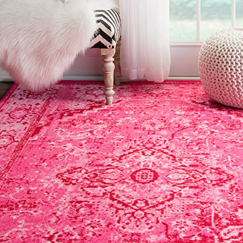 "NuLOOM MCGZ01B 200MCGZ01B-6709 Vintage Reiko Accent Rugs, 6' 7"" x 9' , Pink"