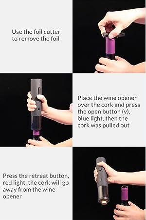 Huohou Sacacorchos eléctrico automático del Equipo del abrebotellas del Vino de Xiaomi Mijia Cortador de la Hoja