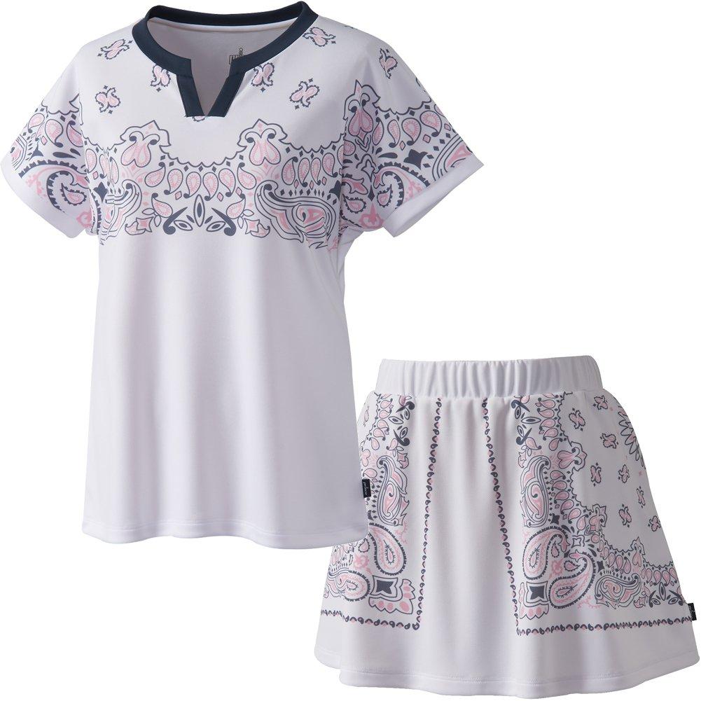 prince(プリンス) レディースウィメンズ ゲームシャツ+スカート上下セット ホワイト WL8152-WL8338-146 B07FFRK1PQ   Large