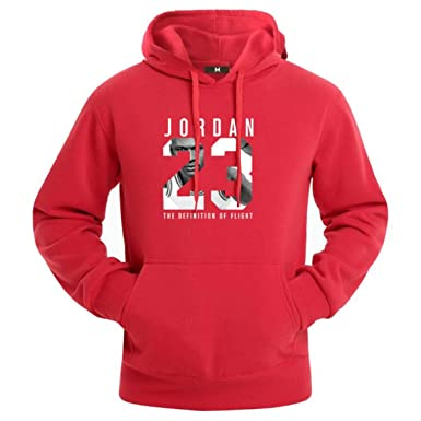 Jordan 23 Hoodie Men Sportswear Mens Hoodies Pullover Hip Hop Mens Sweatshirts Red