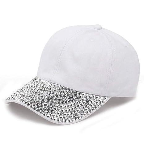 HUOLIMAO Sombreros De Diamantes De Imitación para Mujer De Moda ...