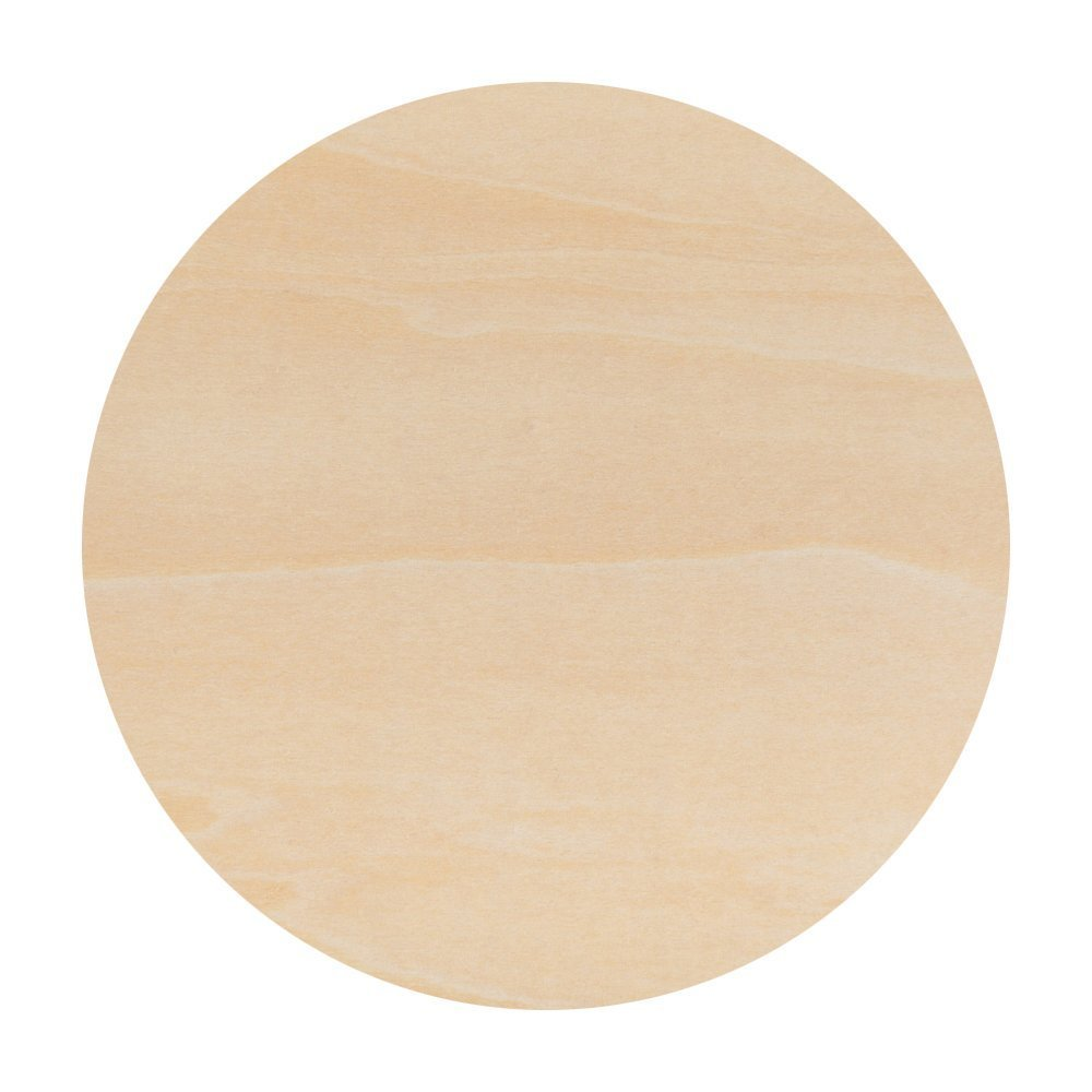 Unfinished Round Wood Circle Cutout 14 Inch - Bag of 10 by Woodpeckers by Woodpeckers