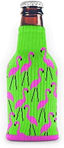 FREAKER Fits Every Bottle Can Beverage Insulator, Stops Bottle Sweat, Lawn Flamingo