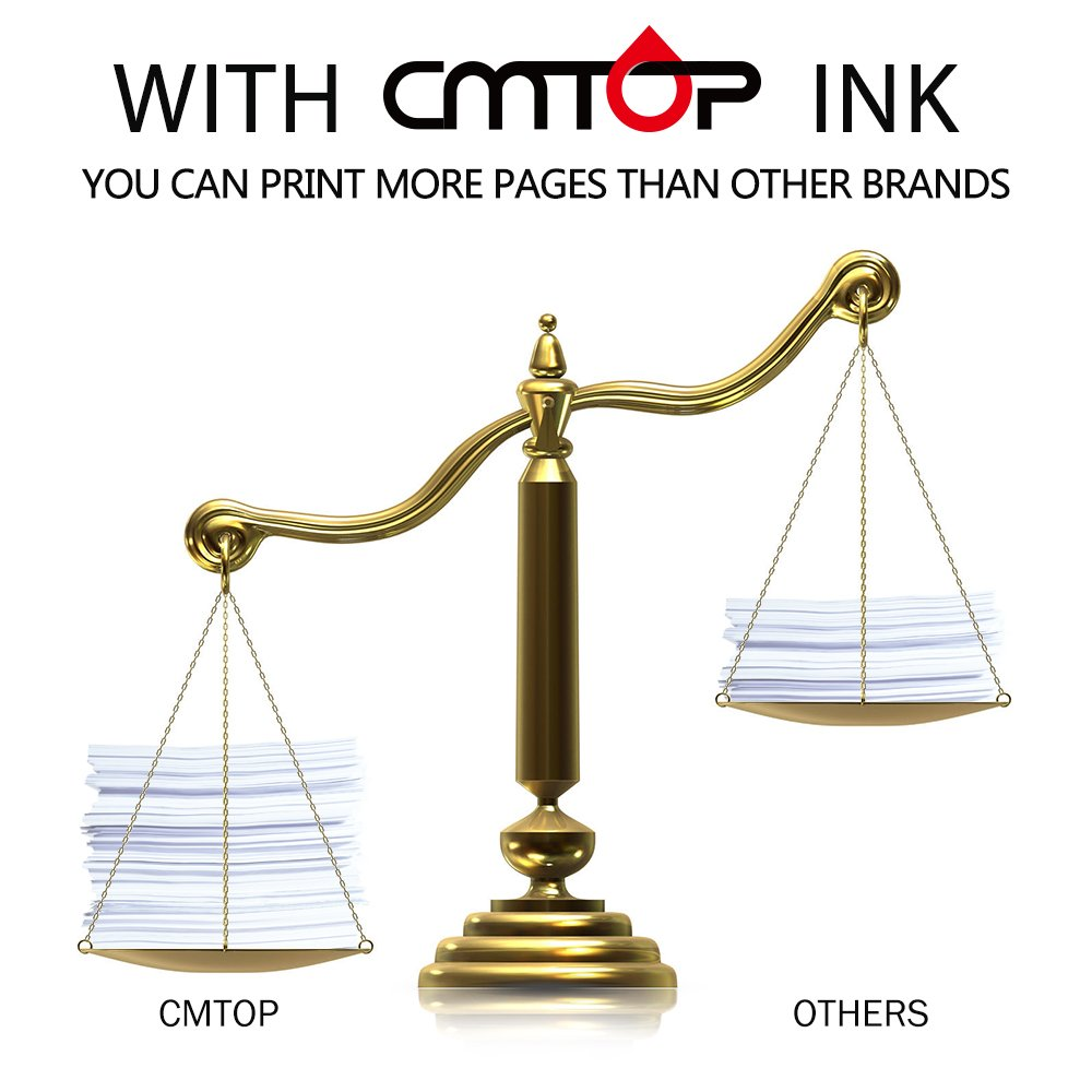 CMTOP 2 Black 61XL Remanufactured Ink Cartridges for HP 61 XL 61XL Ink, High Yield, Work with HP Deskjet 1000 1512 1010 2540 3510 3050A 2510 3000 HP Envy 4500 5530 5534 HP Officejet 4630 2620 Printer by CMTOP (Image #3)