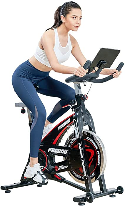 pooboo - Cinturón para Bicicleta de Interior con Soporte para Tablet, para Entrenamiento en casa, Cardio, Gimnasio, Soporte para Tablet: Amazon.es: Deportes y aire libre