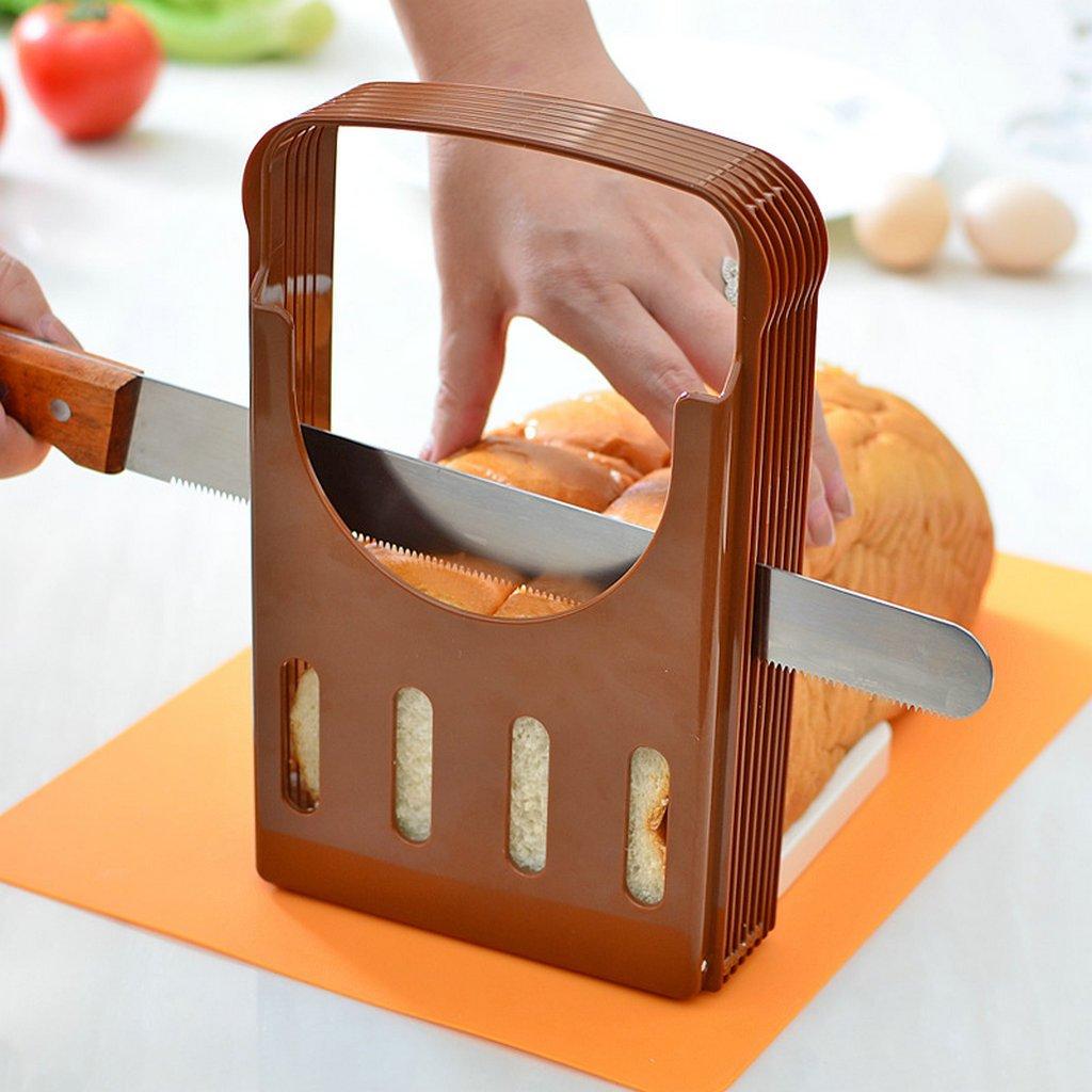 GuDoQi Rebanadora de Pan Plegable Cocina Rebanadora Guía Tostada Rebanada Herramientas para Hornear: Amazon.es: Hogar