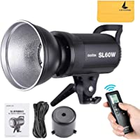 Godox SL-60W 60W LED Video Light 5600±300K CRI 95+,TLCI 90+ with Remote Control and Reflector,Continuous Lighting Bowens…