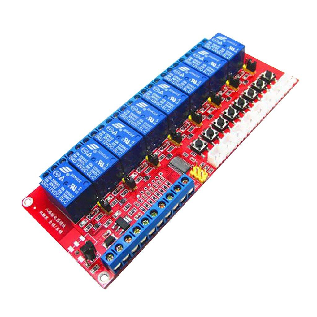 MagiDeal 8 Kan/äle Selbstverriegelung//Verriegelung Relais Modul-Brett f/ür Arduino 3V