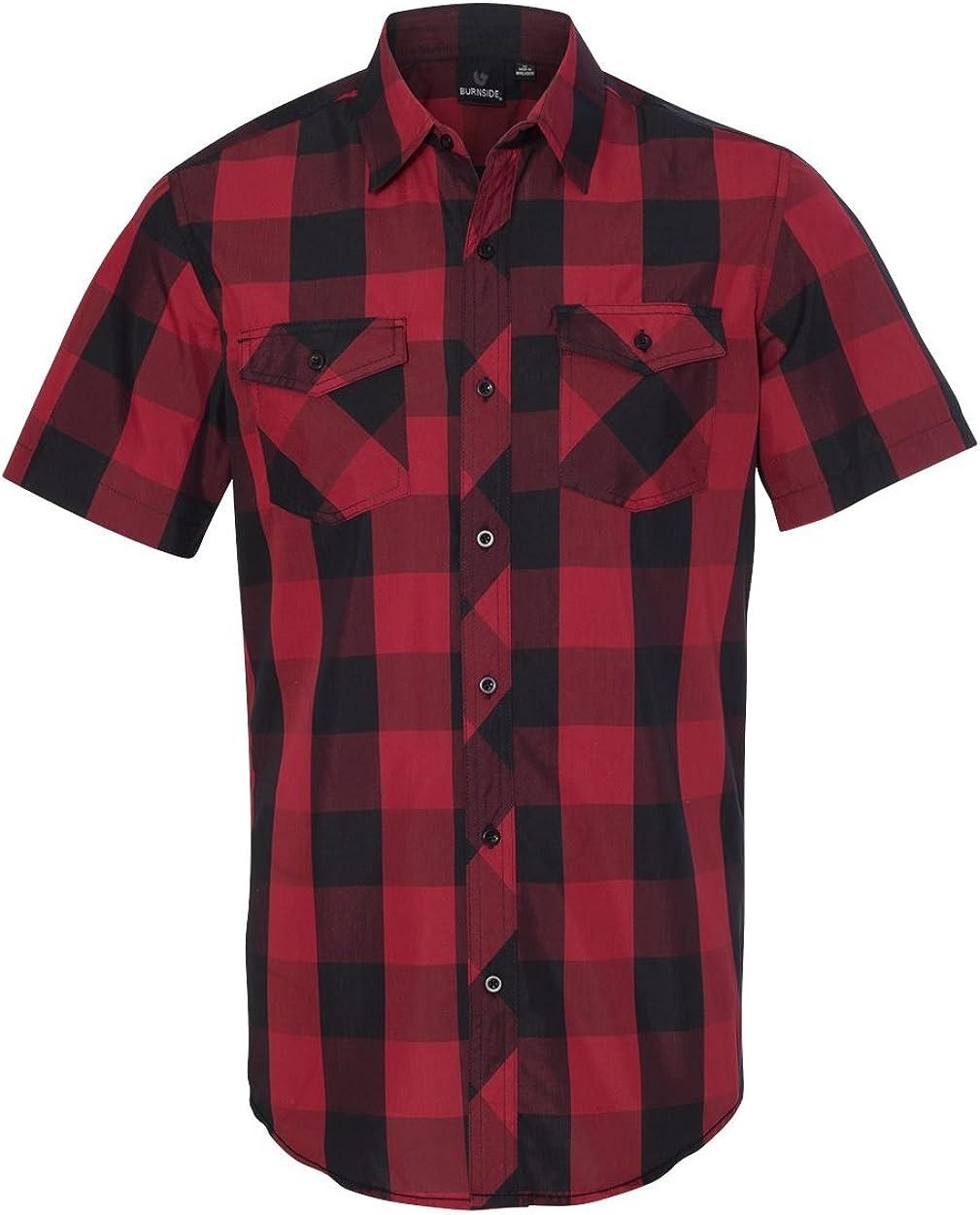 Burnside Buffalo Plaid Woven Shirt (B9203): Burnside: Clothing