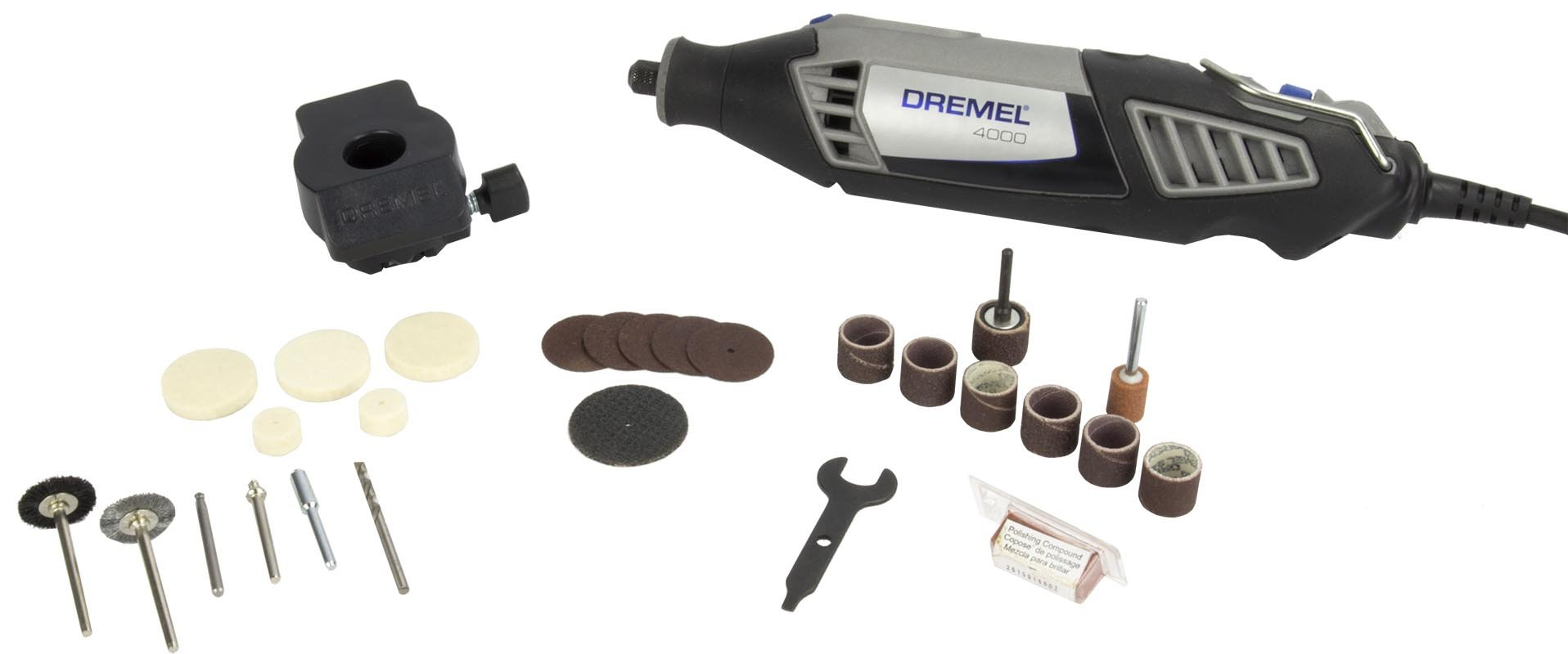 Dremel 4000 Series 28 Piece 1.6A Corded Electric Variable Speed Rotary Tool Kit (Certified Refurbished)