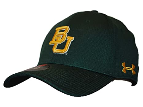 Under Armour Baylor Bears Forest Green Tactel Stretch Fit Hat Cap (S M) aaf83708703