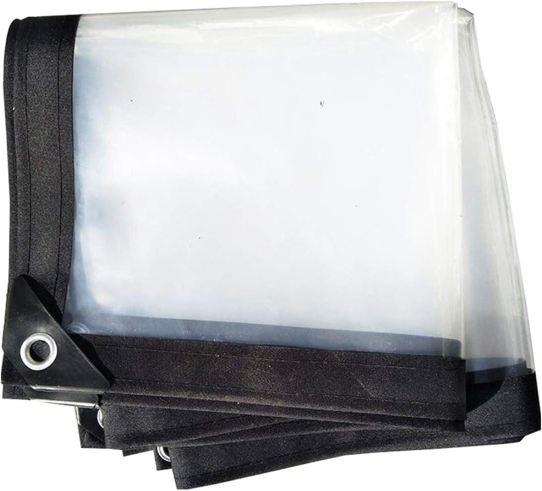 MFASD Lona Transparente con Ojales Impermeable, Lona de plástico Bordes Reforzados Rip-Stop, Lona para Jardines/Piscinas/tejados/Muebles,5x12m/15x36ft