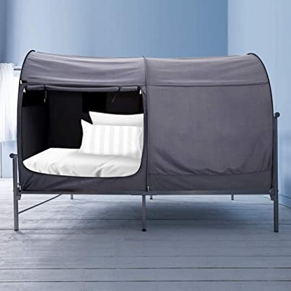 Amazon.com Alvantor Bed Canopy Bed Tents Dream Tents Privacy Space Twin Size Sleeping Tents Indoor Pop Up Portable Frame Curtains Breathable Grey Cottage ... & Amazon.com: Alvantor Bed Canopy Bed Tents Dream Tents Privacy Space ...