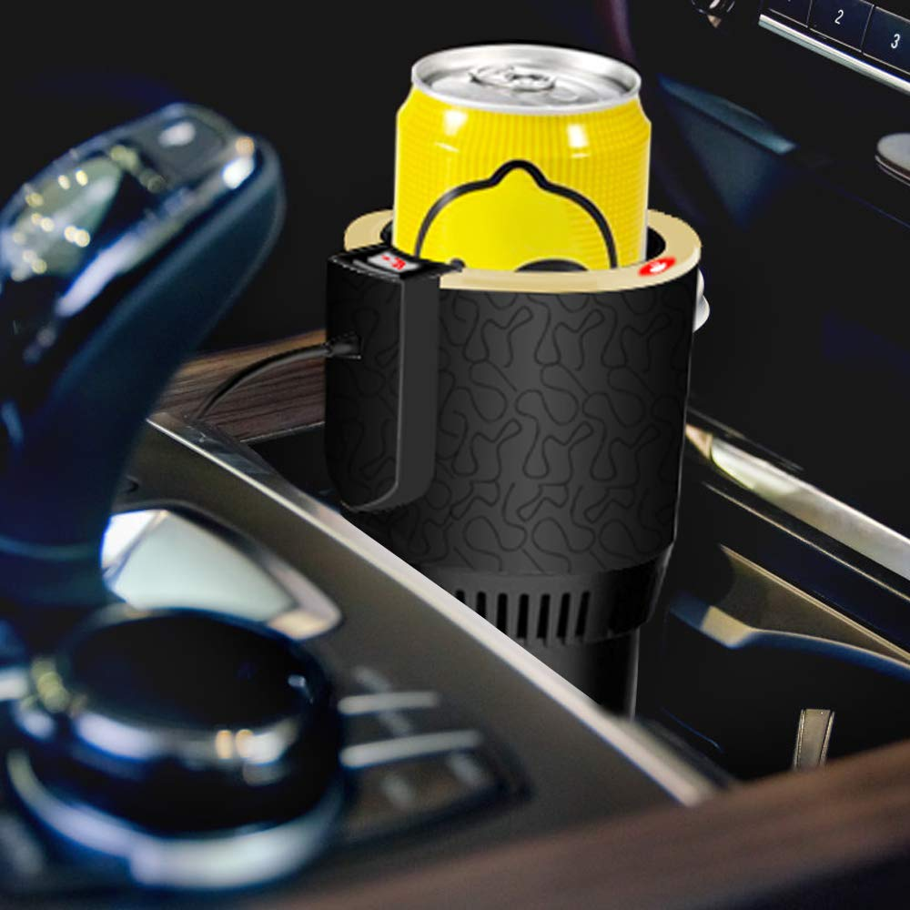 Auto Tassenw/ärmer K/ühler Smart Combo Auto Tasse K/ühlschrank Getr/änkehalter K/ühlung Heizung Getr/änkedosen Kaffee in Minuten 12V Auto Electric Cup Getr/änkehalter Perfekt f/ür Pendler