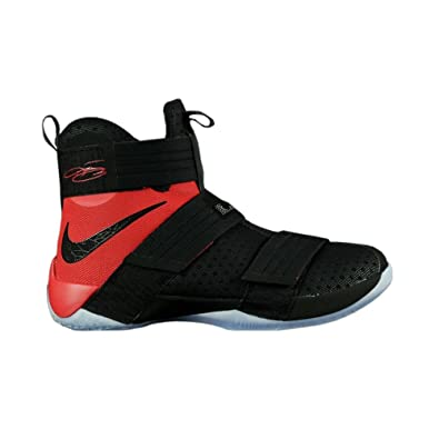 brand new 1532c f34db ... where can i buy mens nike zoom lebron soldier 10 sfg basketball shoes  black red 844378 ...