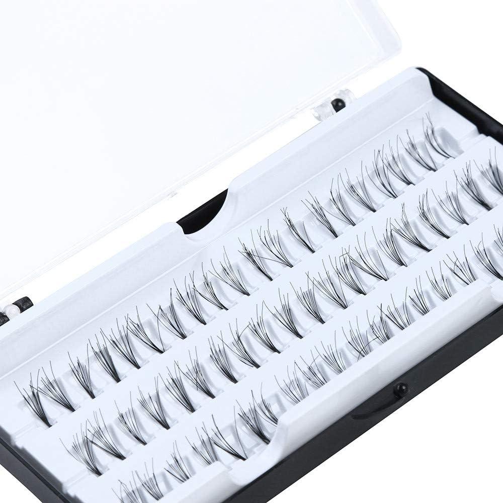 Maxpex 60 Individual Extension False Fake Eyelashes Premium Corner Flare Cluster Lashes