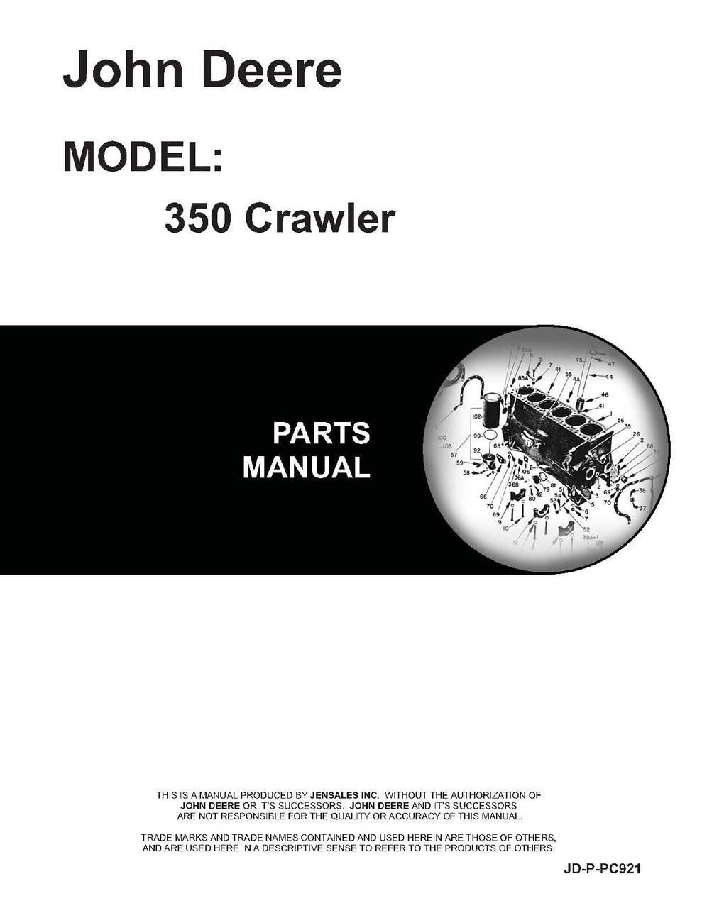 John Deere 350 Crawler Parts Manual pdf