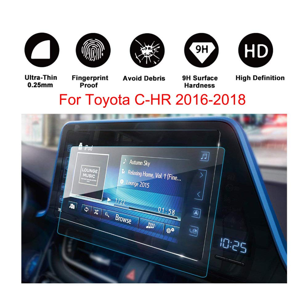 Tempered Glass Navigation System Car Screen Protector For 2018 TOYOTA CHR C-HR