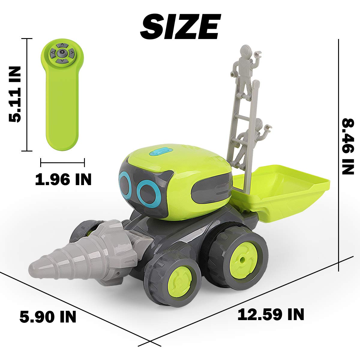Remoking STEM RC Remote Control Engineering Robot Vehicle Toy, Smart Intelligent Electronic Educational Construction Car, Interactive Novelty Funny Gift of Building Block for Ages 3 and up by REMOKING (Image #6)