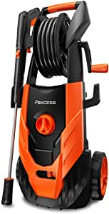 PAXCESS Power Washer, 2300 PSI 1.85 GPM Pressure Washer Electric with Spray Gun, Adjustable Nozzle, 26ft High Pressure Hose, Hose Reel (Power Wash Machine, Pressure Cleaner, Car Washer)