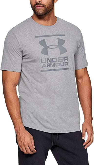 Fast-Drying Mens T Shirt with Graphic Under Armour Mens Ua Gl Foundation Short Sleeve Tee Super Soft Mens T Shirt for Training and Fitness
