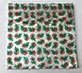 """6"""" X 6"""" Holly Print - Holly and Berries on Silver - Confectionery Foil Wrappers Candy Wrappers Candy Making Supplies"""