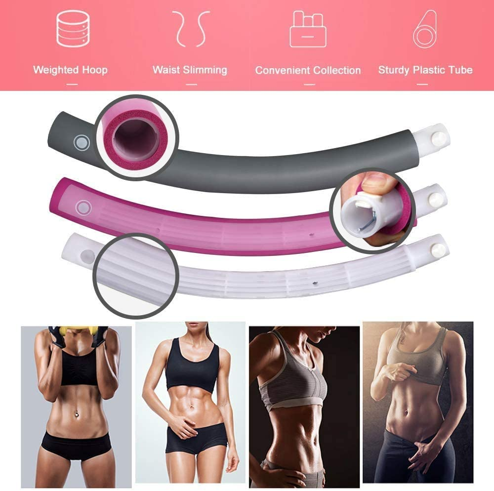 ANATYU Weighted Hula Hoops for Exercise Fitness