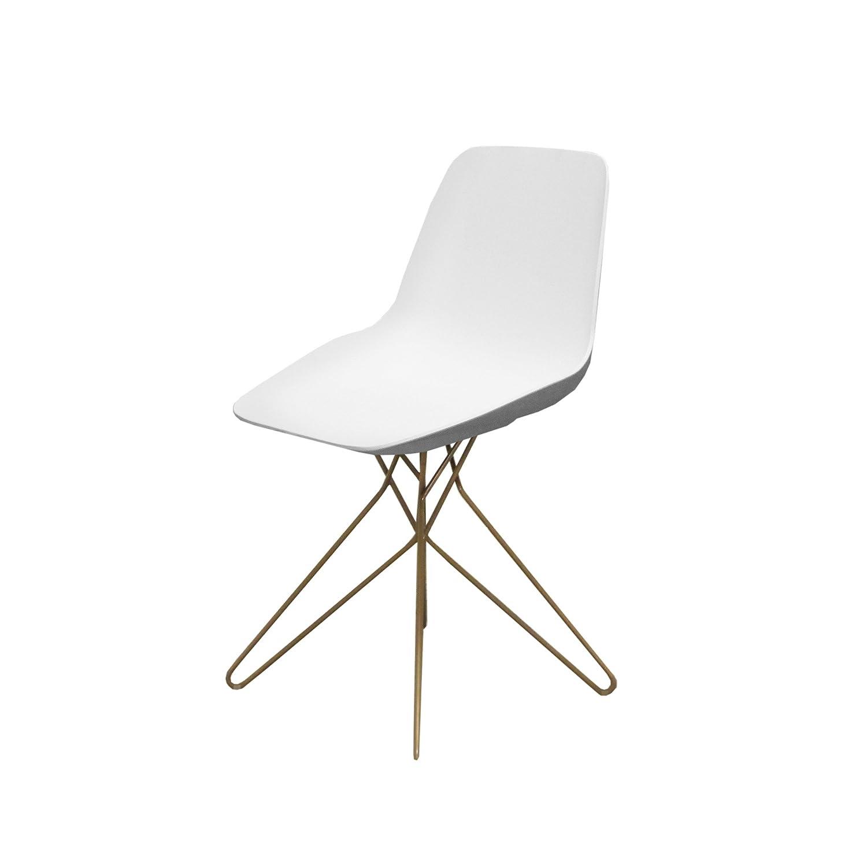 Amazon.com: Silla de diseño Guild Logan Color Blanco con ...