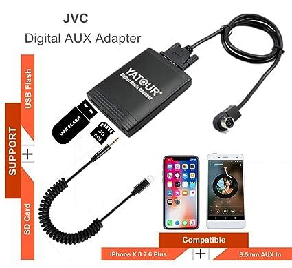 Amazon com: Stereo AUX Adapter, Digital Car Audio Input