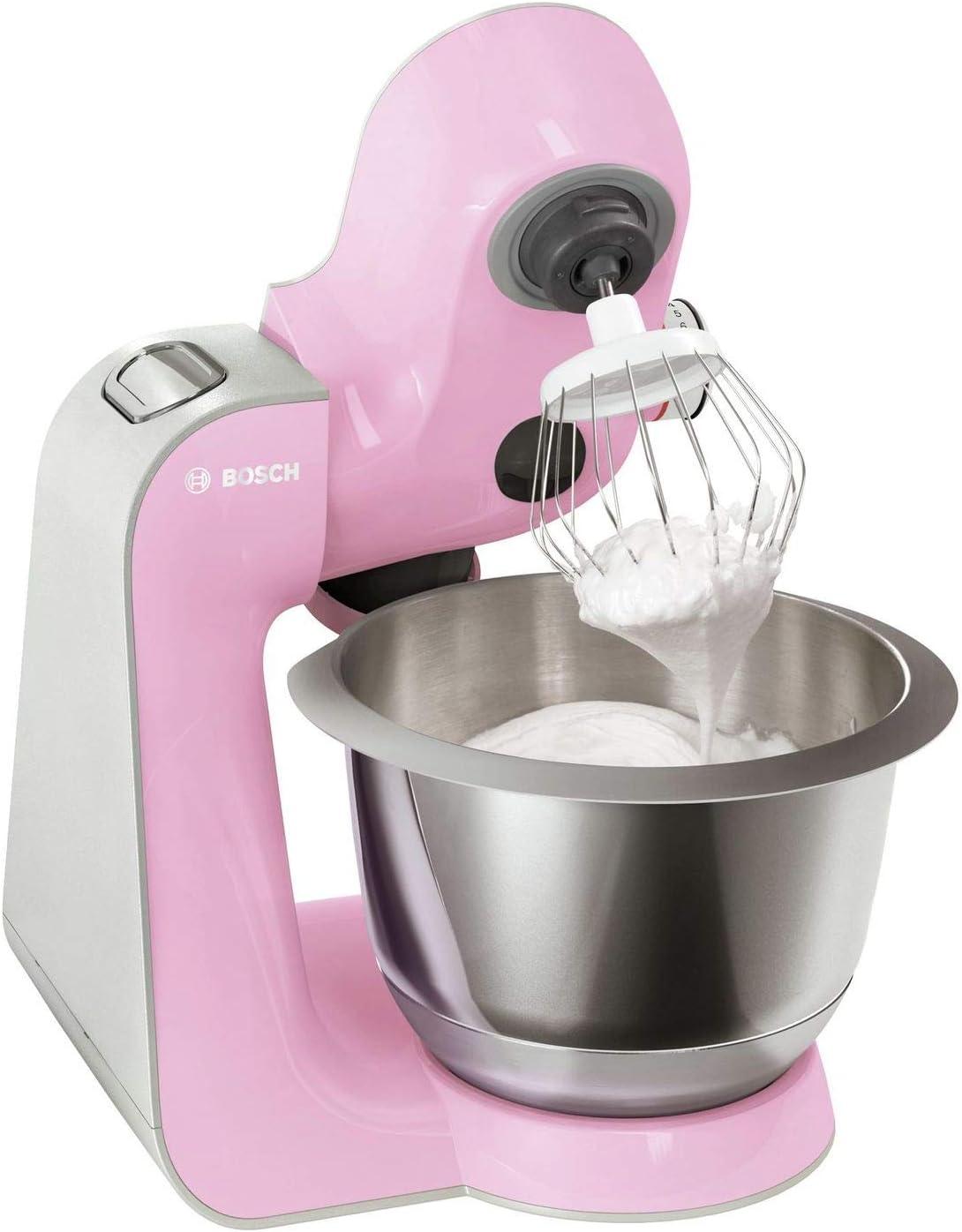 Bosch CreationLine MUM58K20 color rosa y plateado recipiente de 3.9 litros 1000 W Robot de cocina