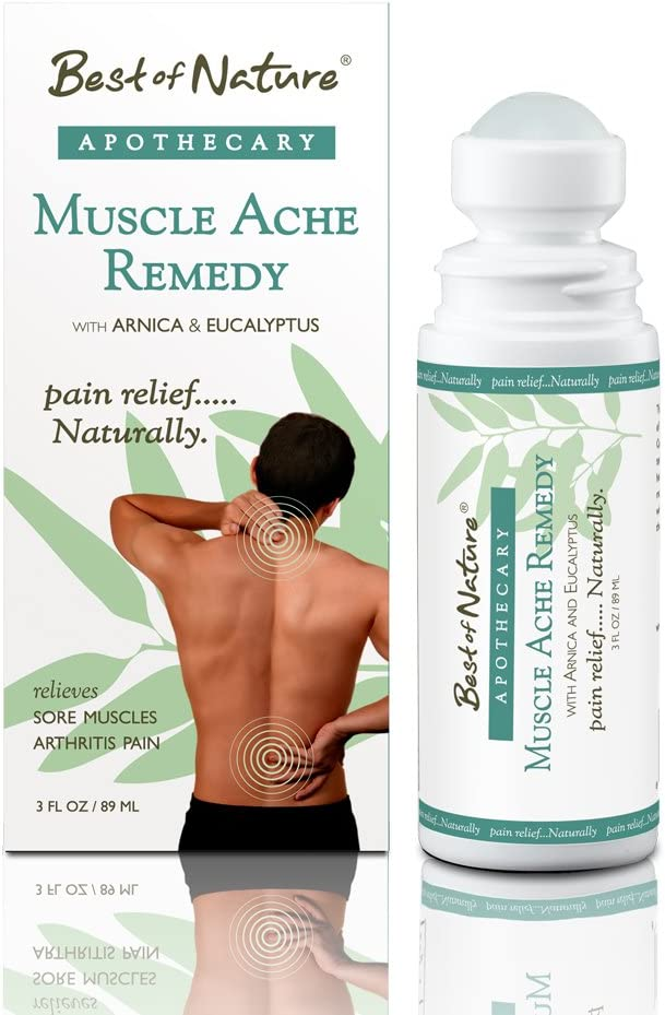 Muscle Ache Remedy - Natural Joint and Muscle Pain Relief 3 oz Roll-on