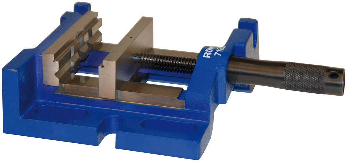 Size 2 Röhm 100mm Jaw Width 279mm Length R/öhm 7182 Type 729-20 DPV 3-W Cast Metal Drilling Machine Vise with SBO V-Jaw