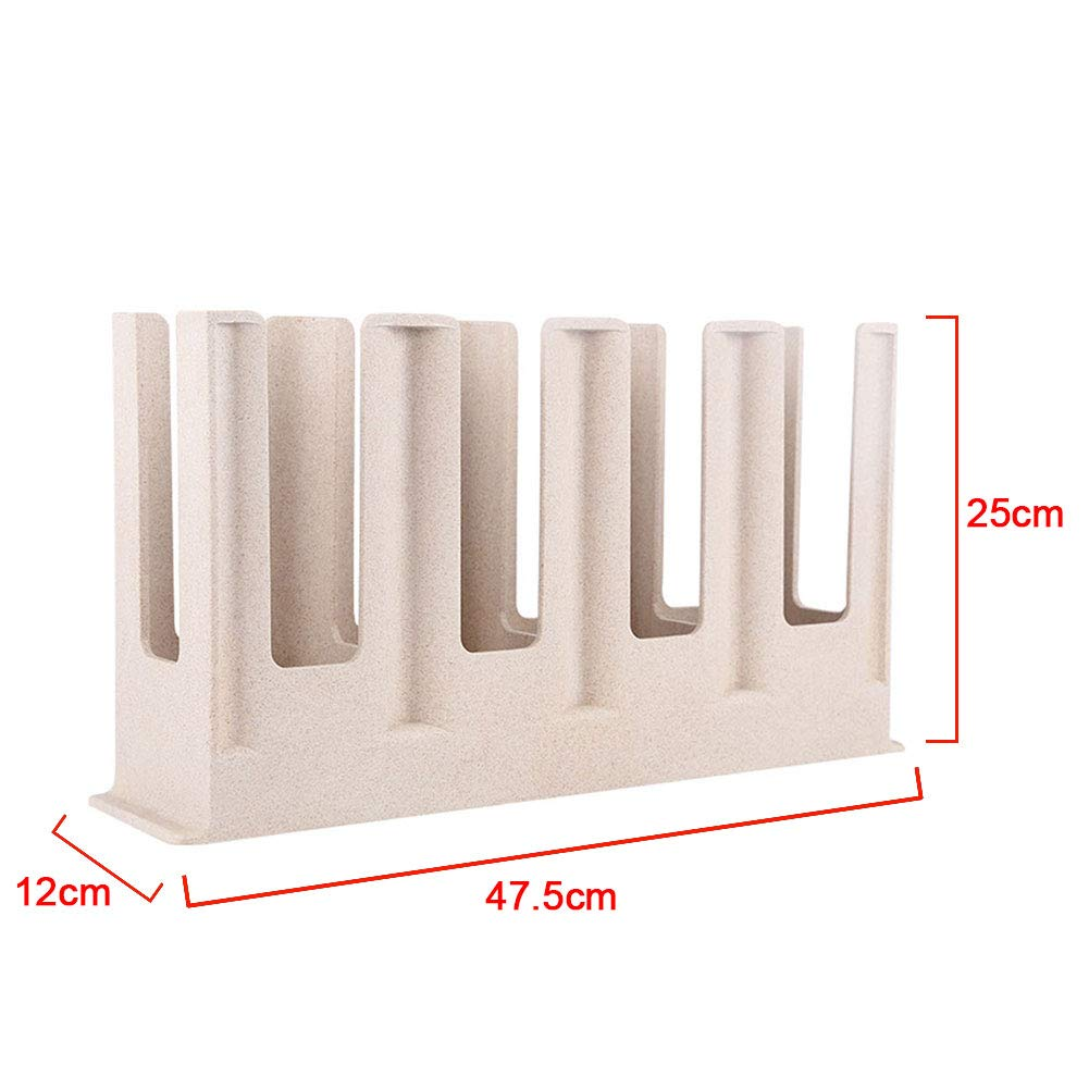 Disposable Cup Dispenser 25 x 12 x 47.5 cm Free Stand Paper Cup Holder Storage Rack 4 Compartment Paper Cup Rack Coffee Cup and Cup Storage Organizer for Shops Bar Office Home