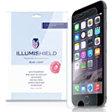 "iLLumiShield - Apple iPhone 6 Screen Protector 4.7"" + (HD) Blue Light UV Filter / Premium High Definition Clear Film / Reduces Eye Fatigue and Eye Strain - Anti- Fingerprint / Anti-Bubble / Anti-Bacterial Shield - Comes With Free LifeTime Replacement Warranty - [2-Pack] Retail Packaging"
