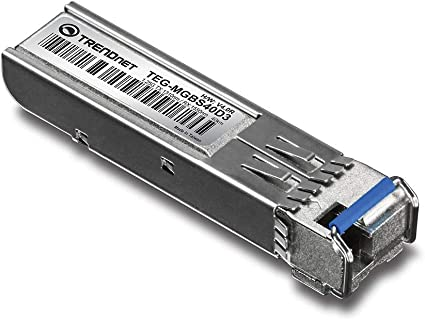 Up to 40 Km Compatible with Standard SFP Slots 24.9 Miles TEG-MGBS40D5 Lifetime Protection TRENDnet SFP Dual Wavelength Single-Mode LC Module 1550//1310,Version v4.0R
