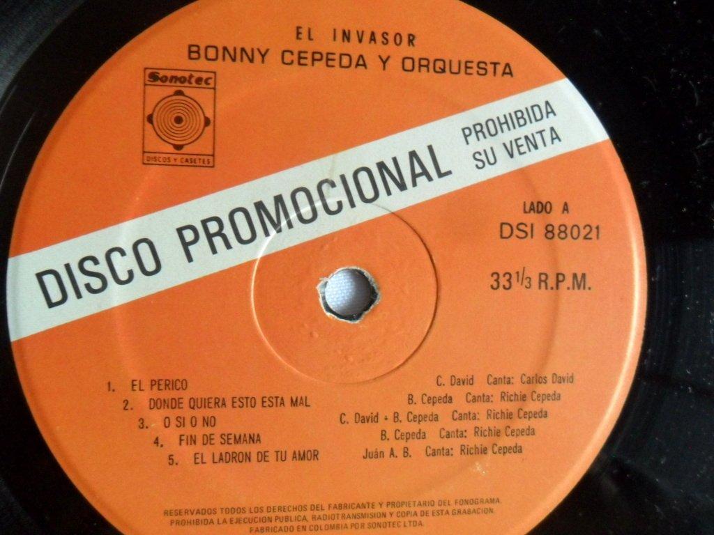 LP BONNY CEPEDA Y ORFQUESTA *EL INVASOR*SONOTEC - LP BONNY CEPEDA Y ORFQUESTA *EL INVASOR*SONOTEC - Amazon.com Music