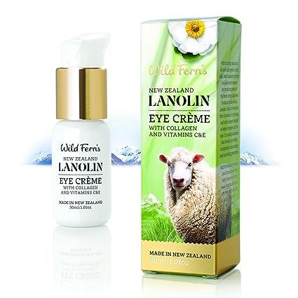 Salvaje Helechos lanolina ojo crema con Colágeno y vitaminas C y E