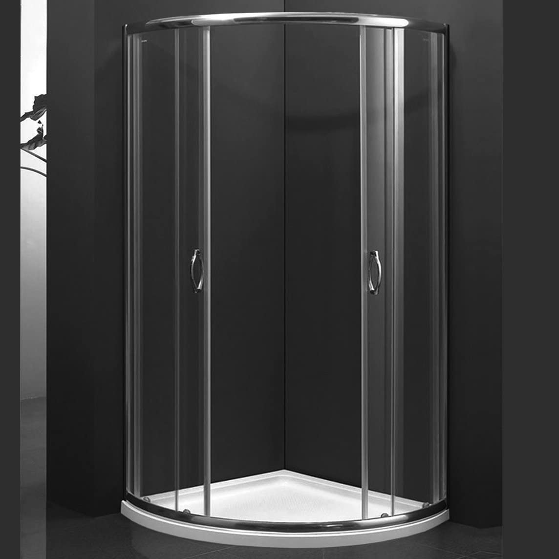 marinelligroup – Box ducha semicircular 80 x 80 con 2 puertas correderas cristal cristal 8 mm. Abeto: Amazon.es: Hogar