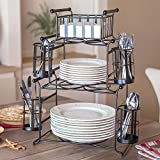 7-Piece Stackable Stripe Buffet Caddy