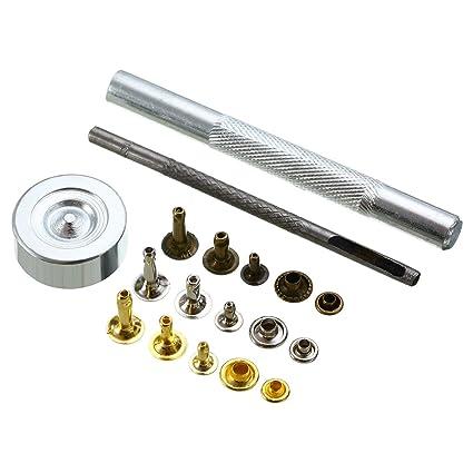 2d8eeb650f5 Amazon.com  Daisy Storee 135Pcs DIY Metal Snap Fastener Press Stud ...