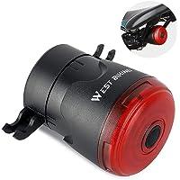 Tomshin Lanterna para bicicleta Luz traseira da bicicleta Detecção de freio automático à prova d'água Carregamentos de…