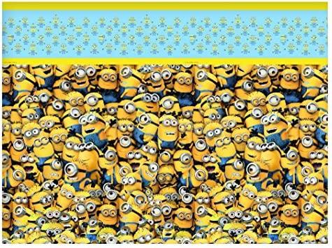 Procos 87179 – Mantel de plástico Minions, amarillo/azul