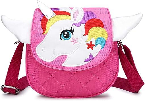 Lovely Girls Boys Unicorn Coin Purse Change Wallet Kids Crossbody Mini Bag Gift