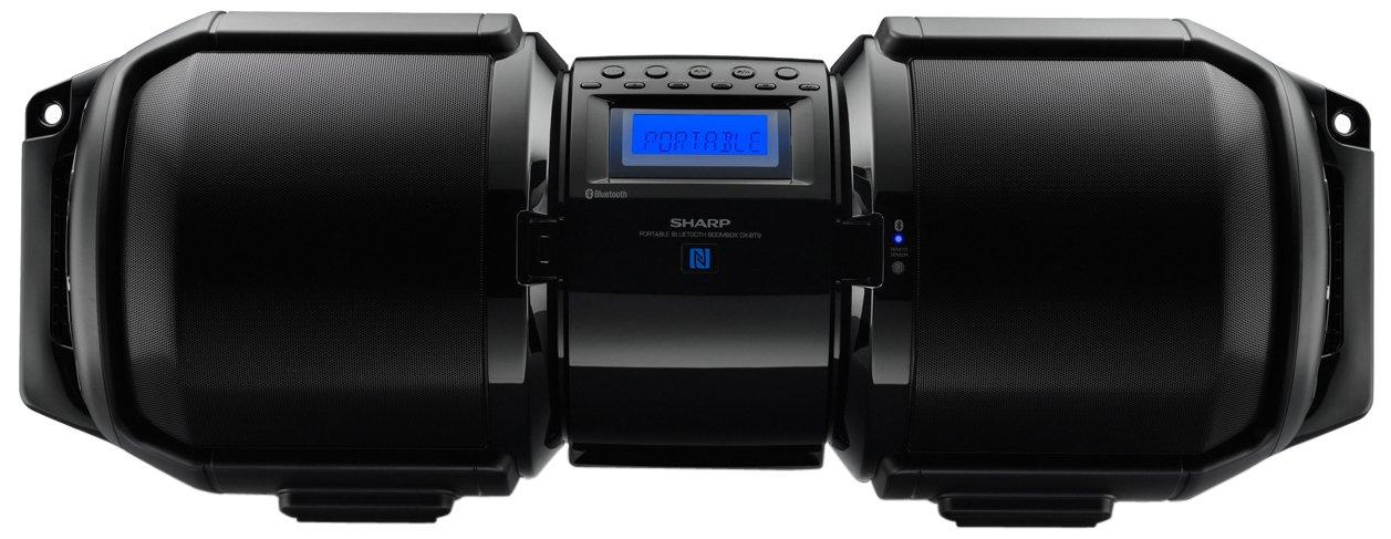 sharp gx bt9. amazon.com: sharp gxbt9 portable bluetooth boom box (black), 10.80 x 29.50 11.00: home audio \u0026 theater gx bt9 a