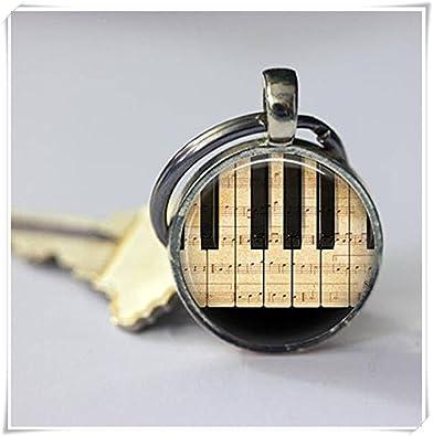 Llavero Piano instrumentos musicales hoja música músicos ...