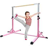 FBSPORT Barre Fixe de Gymnastique pour Enfants, Gymnastique Barre, Enfants Maison Équipement d'entraînement Sportif, Horizontales Barre de Gymnastique Réglable en Hauteur, adapté à l'entraînement