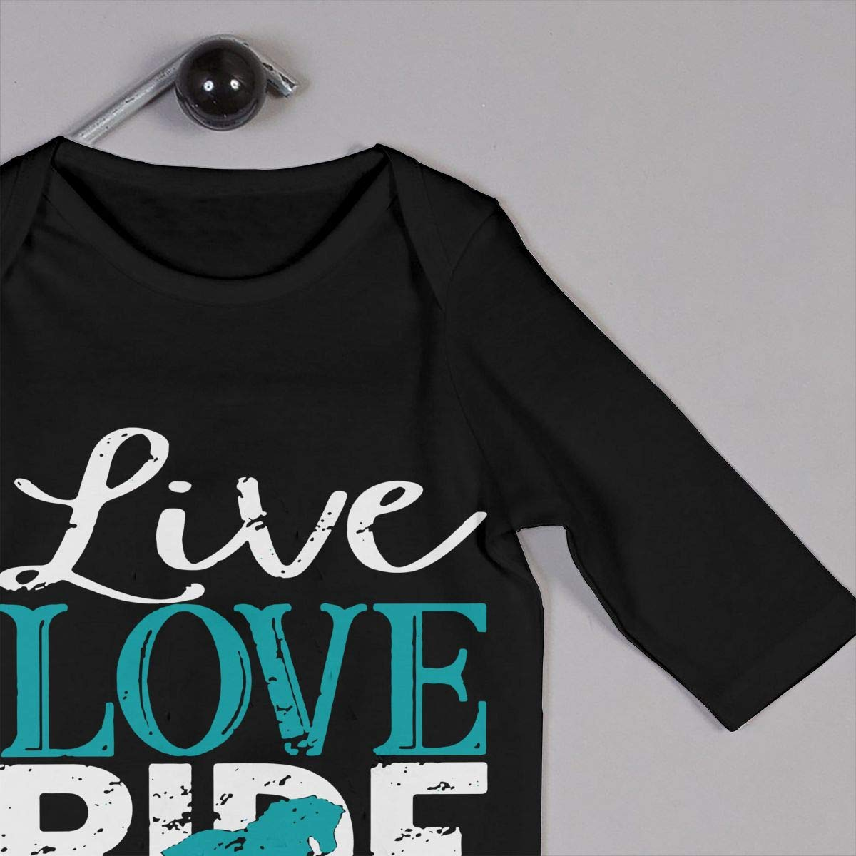 Baby Boy Girl Jumpsuit Live Love Ride Horse Infant Long Sleeve Romper Jumpsuit